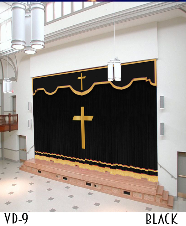 Church Curtains Custom Stage Drapery