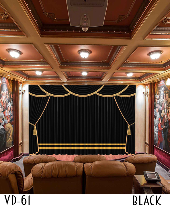 Luxury curtain for stage hall theater events decor for Auditorium stage decoration