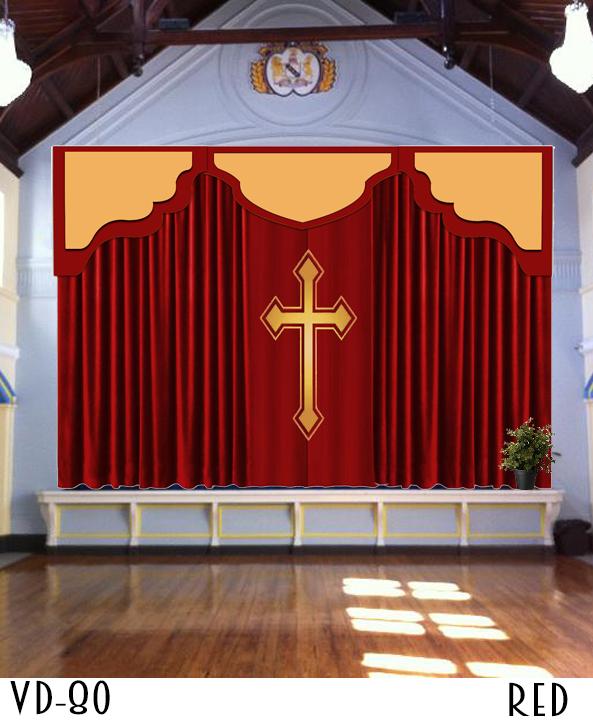 Church Backdrop Curtains Pulpit Drapes